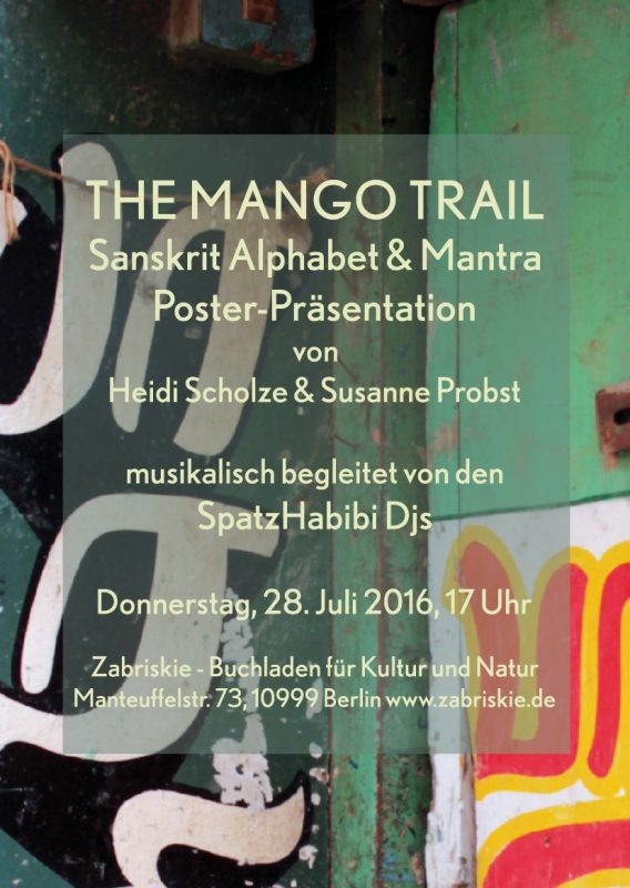 THE MANGO TRAIL - Sanskrit Alphabet & Mantra Poster-Präsentation ...